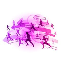 athlete arrows vector image