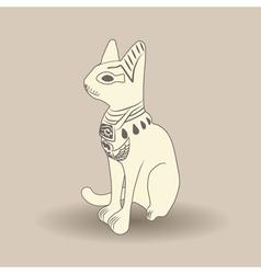 Beige Egyptian cat vector image
