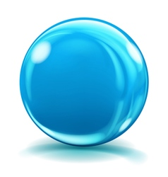 Big blue glass sphere vector