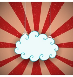 Retro cloud vector