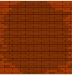 abstract brick wall textured red color vector image vector image