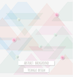 Abstract triangle pattern background for business vector