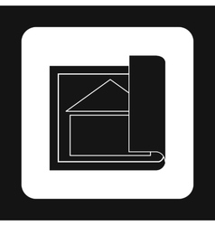 Architectural design of house icon simple style vector