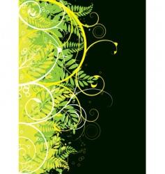 autumn floral border vector image