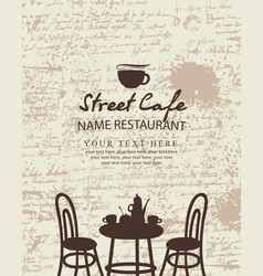 banner for a sidewalk cafe vector image vector image