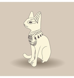 Beige egyptian cat vector