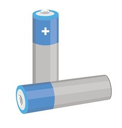 Blue batteries vector image vector image