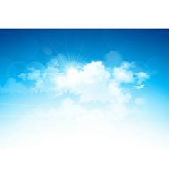 Blue sky and clouds vector