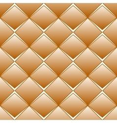Brown rhomb seamless pattern vector image vector image