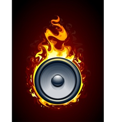 Burning speaker vector image vector image