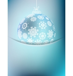 Christmas ball on abstract light EPS10 vector image vector image