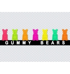 Colored gummy bears vector image