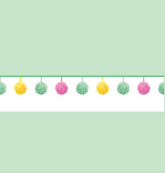 colorful pastel baby room pompoms set on vector image vector image