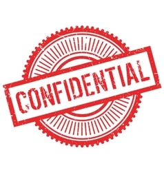 Confidential stamp rubber grunge vector
