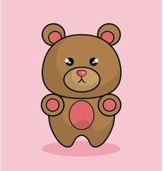 cute bear stuffed icon vector image vector image