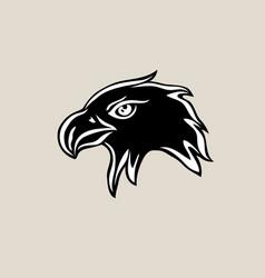 Eagle fave silhouette logo vector