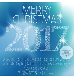 Fantastic merry christmas 2017 greeting card vector