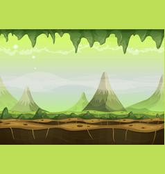 Fantasy sci-fi alien landscape for game ui vector