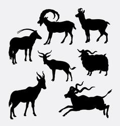 Goat animal silhouette vector