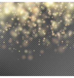 Gold glitter particles effect EPS 10 vector image vector image