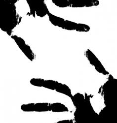 hand prints vector image