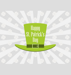 happy st patricks day leprechaun hat vector image vector image