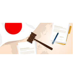 japan law constitution legal judgment justice vector image