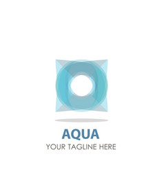logo aqua water drop design icon wave symbol vector image