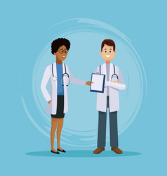 medical team cartoon vector image