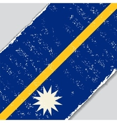 Nauru grunge flag vector