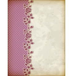 Retro background with roses vector image vector image