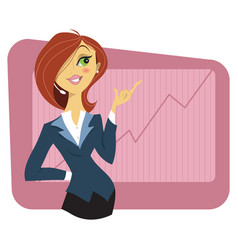 sexy young woman in a business suit vector image