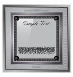 silver frame vector image