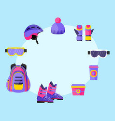 skiing snowboarding accessories - helmet vector image