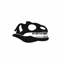 Skull of dinosaur icon simple style vector