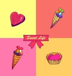Sweet life-4 vector image vector image