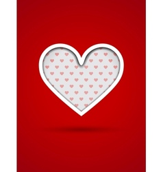 Valentines Day card with cut out heart vector image