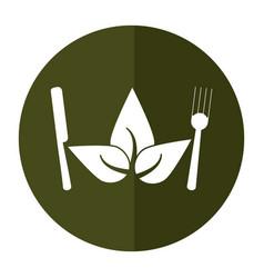 Vegetarian food diet health shadow vector