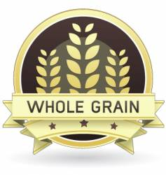 Whole grain food label vector