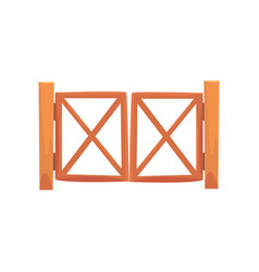 wooden farm gates from crossed planking cartoon vector image vector image