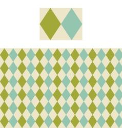 Diamond Geometric Pattern Swatch vector image
