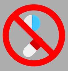 Ban tablet icon flat vector