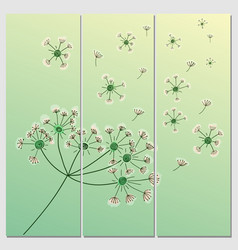 Flower background banners with vector
