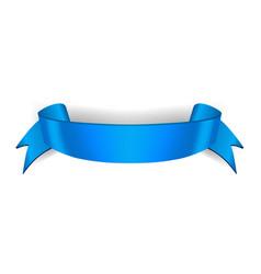 Satin empty ribbon banner vector