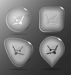 Bats glass buttons vector