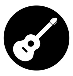 Guitar sign button vector