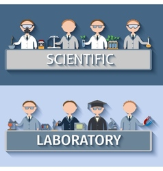 Scientists in lab vector