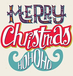 Christmas card hand lettering decorative pattern vector
