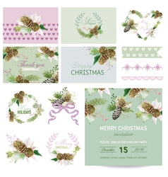 Scrapbook Design Elements - Christmas Theme vector image