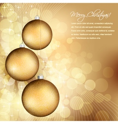golden christmas design vector image
